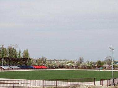 Газон на футбольном поле