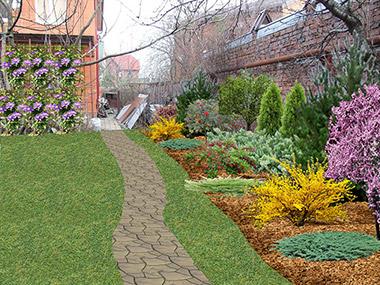 Озеленение территории частного подворья