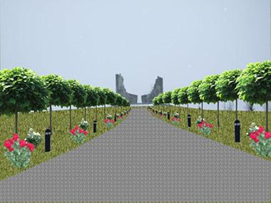 Ландшафтное озеленение мемориала