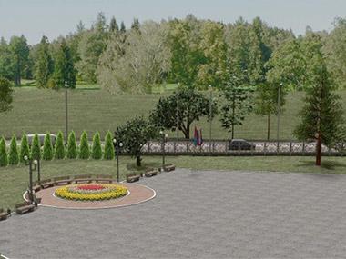 Ландшафтное озеленение территории мемориала