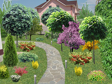 Пример ландшафтного озеленения