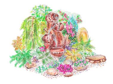 Эскизный проект фонтана