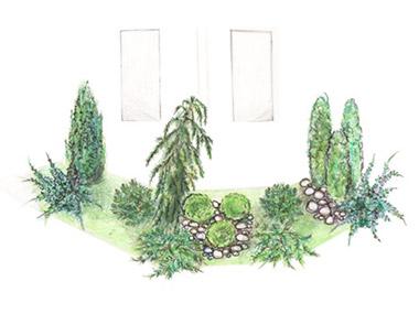 Эскизный проект ландшафтного озеленения
