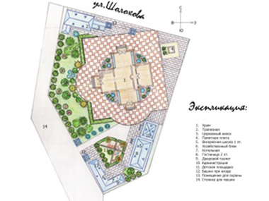Эскизный проект территории Храмового комплекса